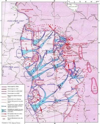 Карта боевых действий брянский фронт